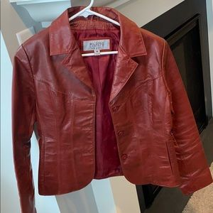 Wilson's Red Leather Jacket Medium